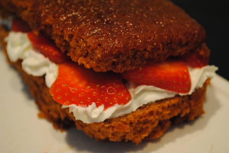 Jamaica Ginger, strawberries and cream cake