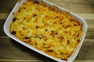 Cheating Chicken, Mushroom And Bacon Pasta Bake recipe - 1