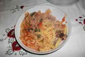 Tuna Vegetable Tomato Pasta