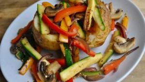 jacket potato fried vegetables recipe - 1