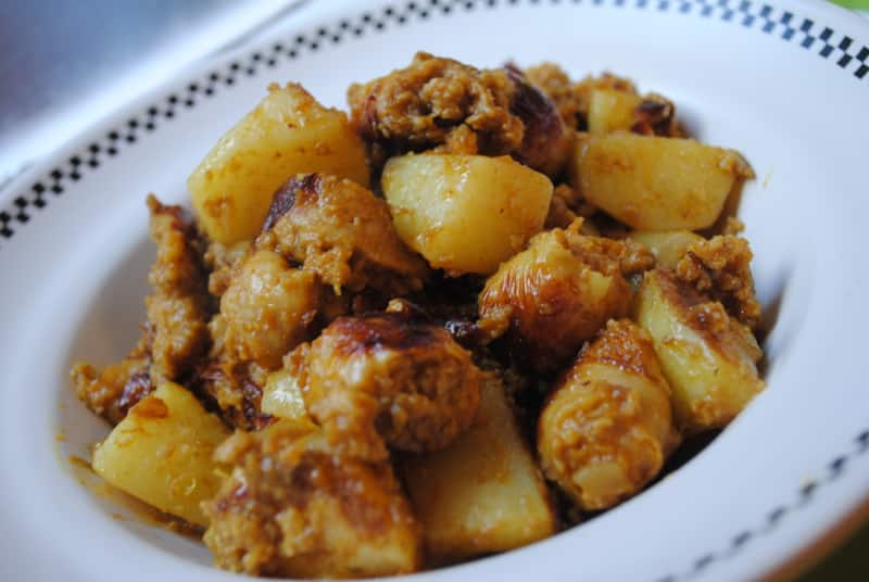 sausage potato curry