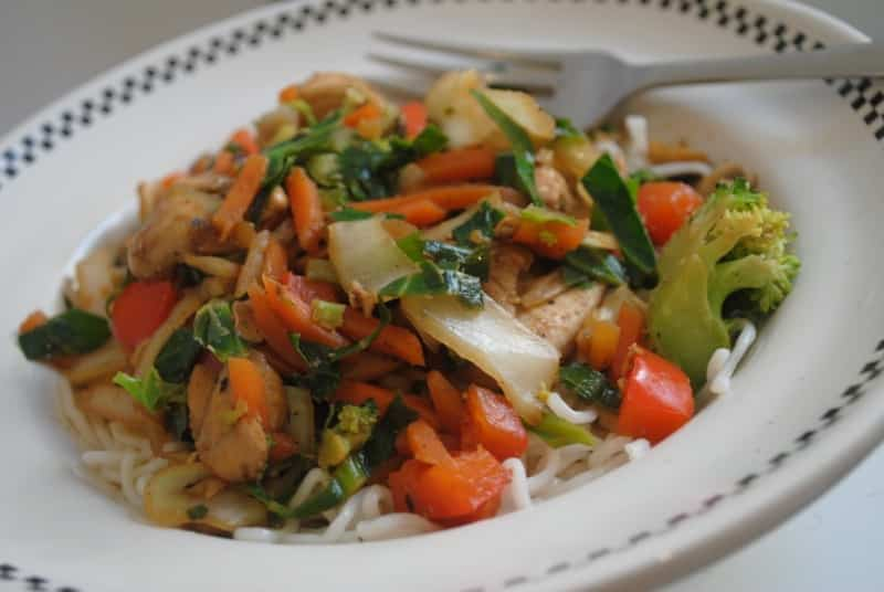 Easy Chinese chicken stir-fry