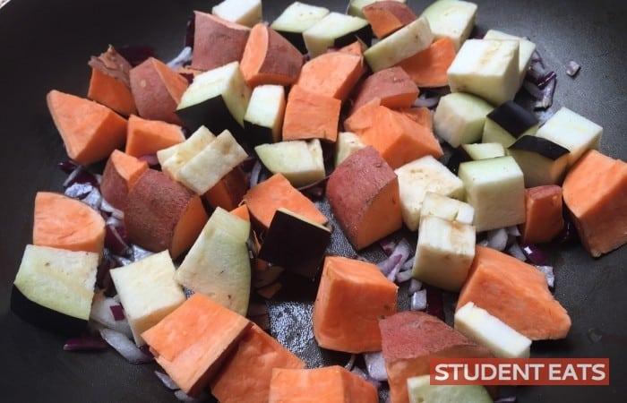Aubergine Sweet potato Chickpea Curry recipe 2