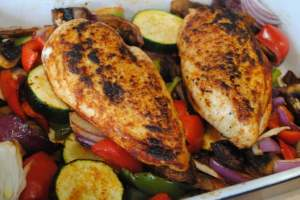 Chicken and Mediterranean Vegetables Recipe - 1