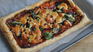 easy vegetarian puff pastry tart recipe - 2