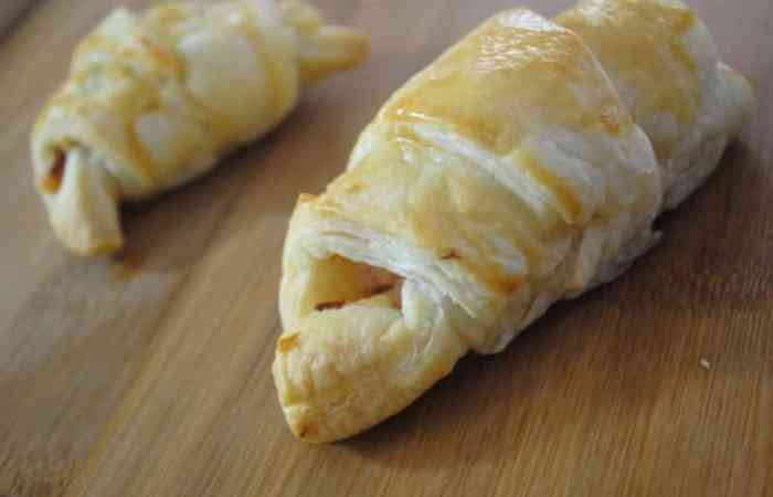 Easy ham and cheese croissants