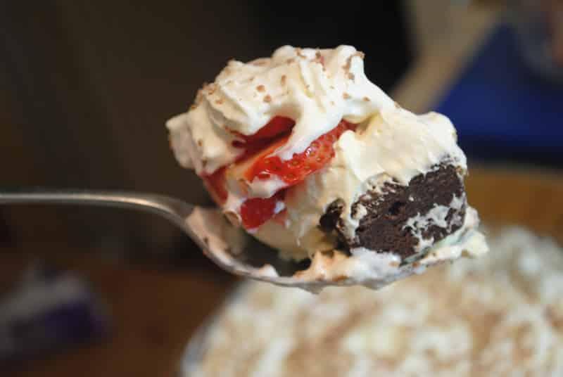 brownie strawberry trifle
