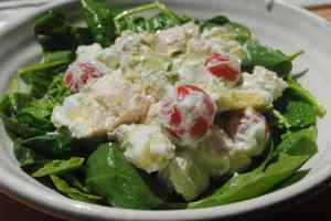 chicken apple avocado salad