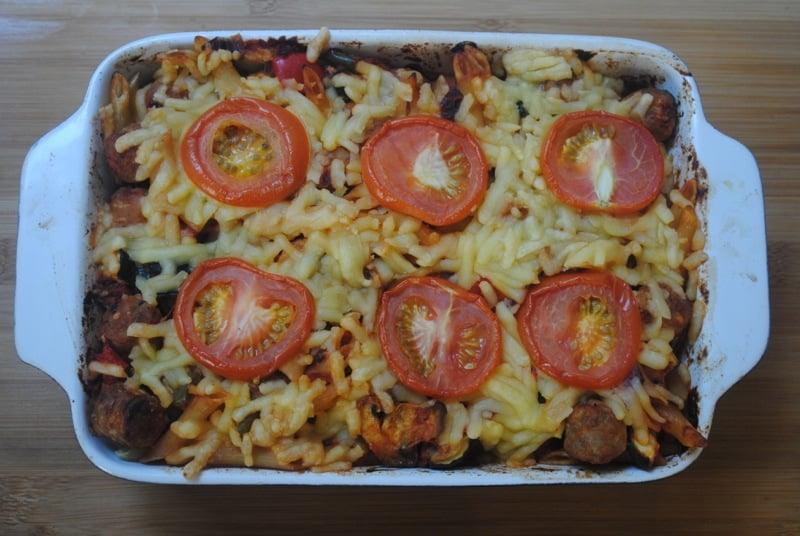Sausage Pasta Bake student recipe