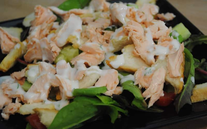 simple salmon salad recipe - 1