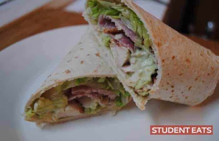 chicken, bacon, avocado wrap