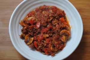 Bolognese student recipe