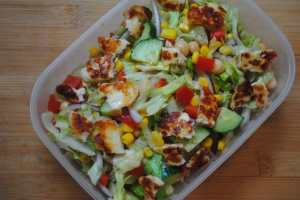Halloumi Salad recipe1