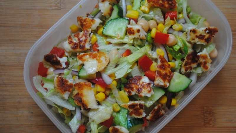 Halloumi Salad recipe1