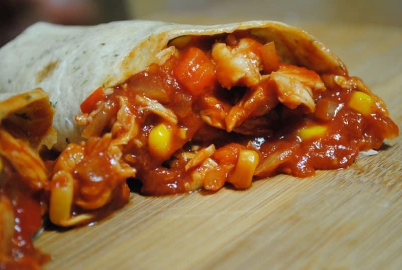 Saucy BBQ Chicken Wraps