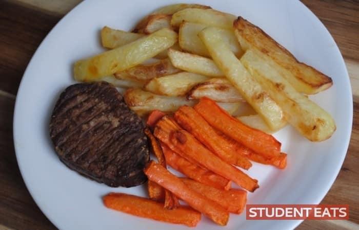Healthy Vegetarian Steak and Chips - 2