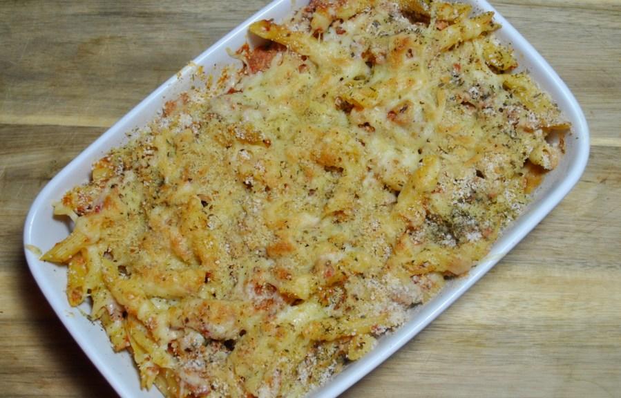 Tuna and Chorizo Pasta Bake