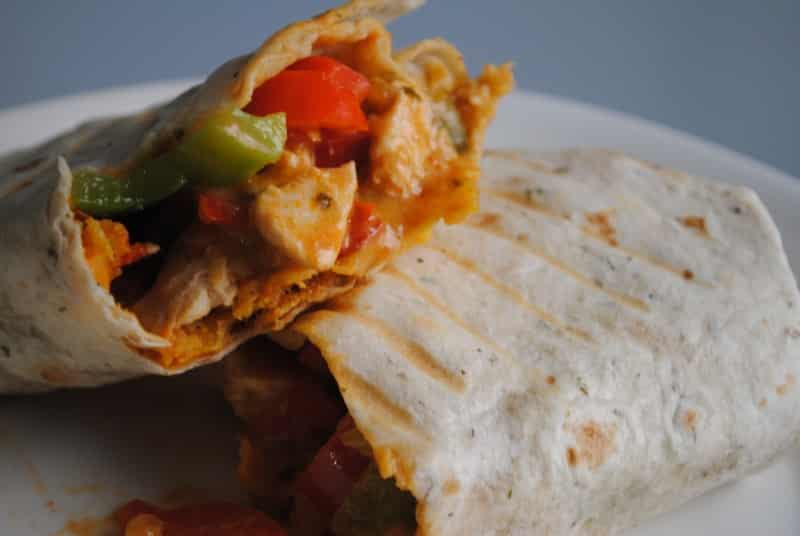 Toasted Chicken Enchilada Burritos
