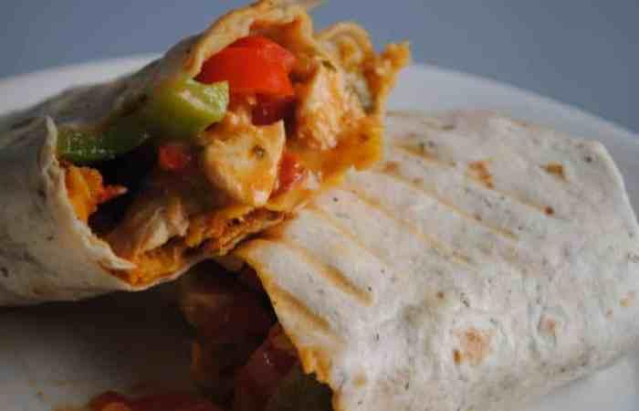 Toasted Chicken Enchilada Burritos