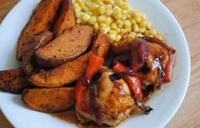 One Pan Sticky BBQ Chicken