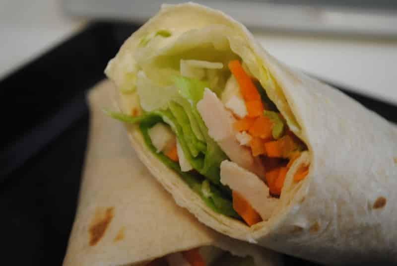 Chicken And Carrot Avocado Wraps