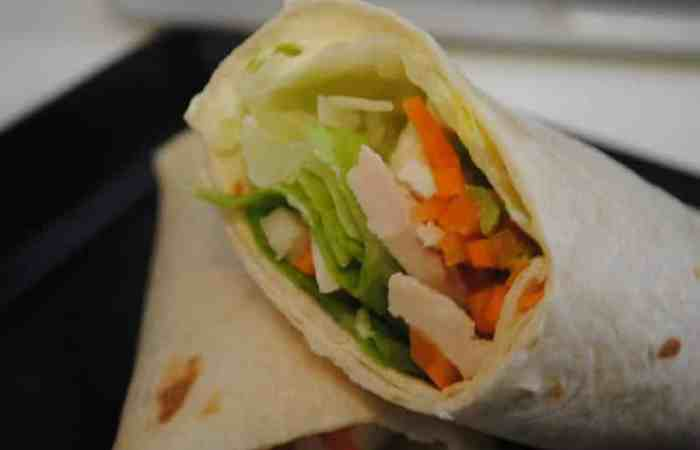 Chicken And Carrot Avocado Wraps