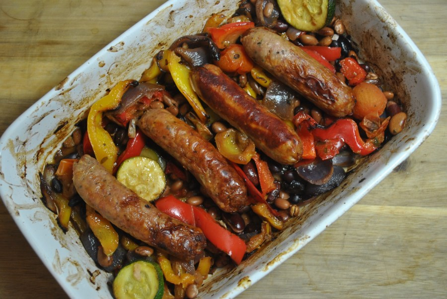 Easy & Healthy Sausage, Bean and Vegetable Bake Recipe - 1