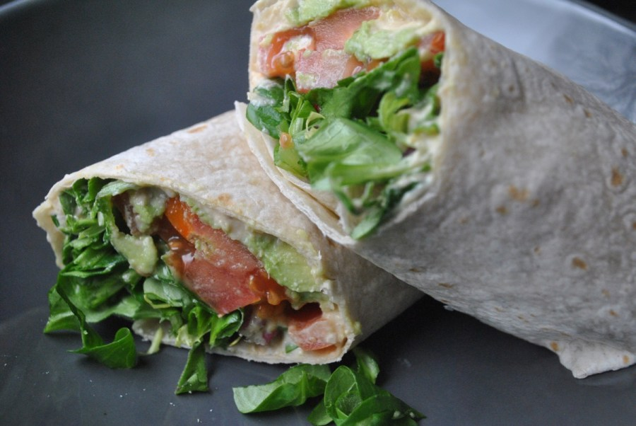 Vegan Hummus and Veggie Wrap recipe - 1