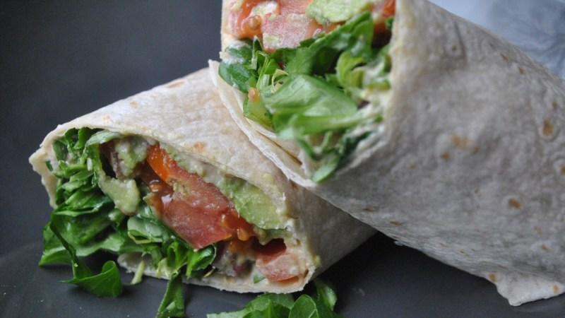 Vegan Hummus and Veggie Wrap recipe - 1