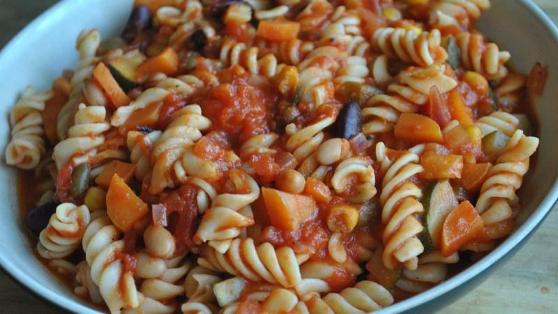 Vegan Vegetable and Bean Pasta Recipe - 1