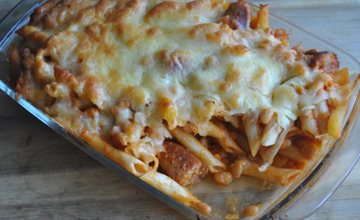 sausage and baked bean pasta bake recipe - 3