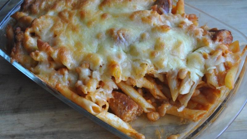 sausage and baked bean pasta bake recipe - 3