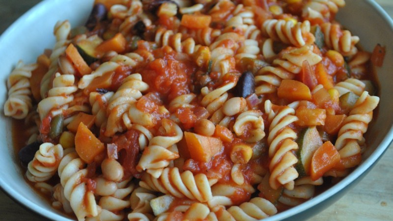 vegan vegetable bean pasta recipe - 1