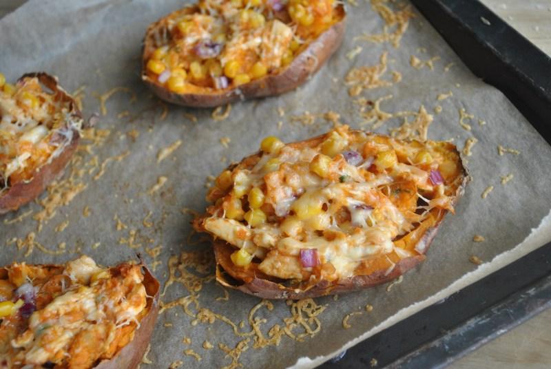 BBQ Chicken Stuffed Baked Sweet Potato Recipe - 2