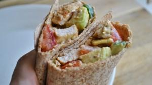 Cajun Chicken Avocado Salad Wrap Recipe - 1