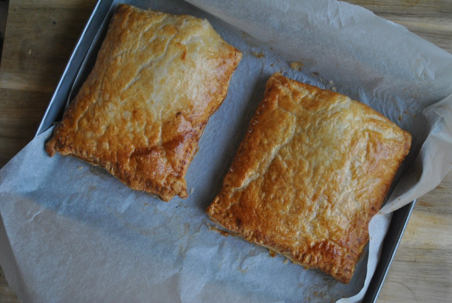 Garlic and Cheese Chicken Puff Pastry Bake Recipe - 1