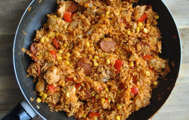 chicken chorizo rice recipe - 1 (1)