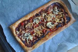 puff pastry chorizo pizza recipe - 1