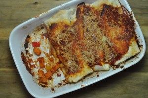 Sweet Potato and Bean Vegan Enchiladas Recipe - 1