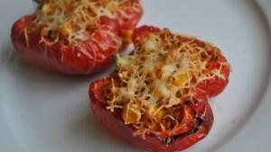 vegan cauliflower rice stuffed peppers recipe - 3