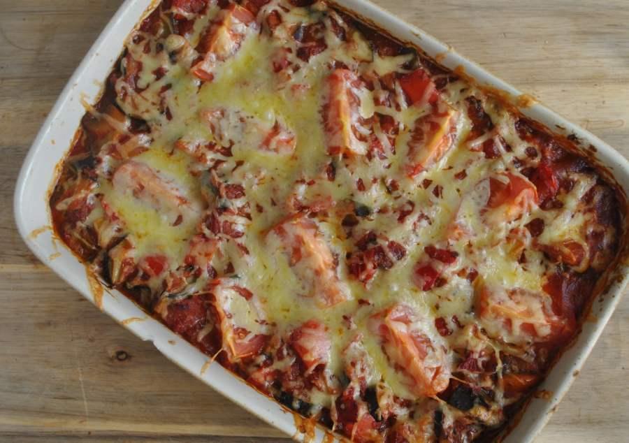 low carb vegetarian tomato bake reipe - 2