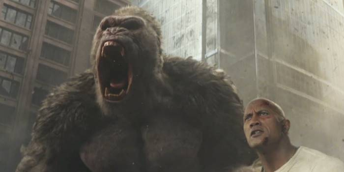 "Movie Review ""Rampage"" Finally Just Pairs Dwayne Johnson"