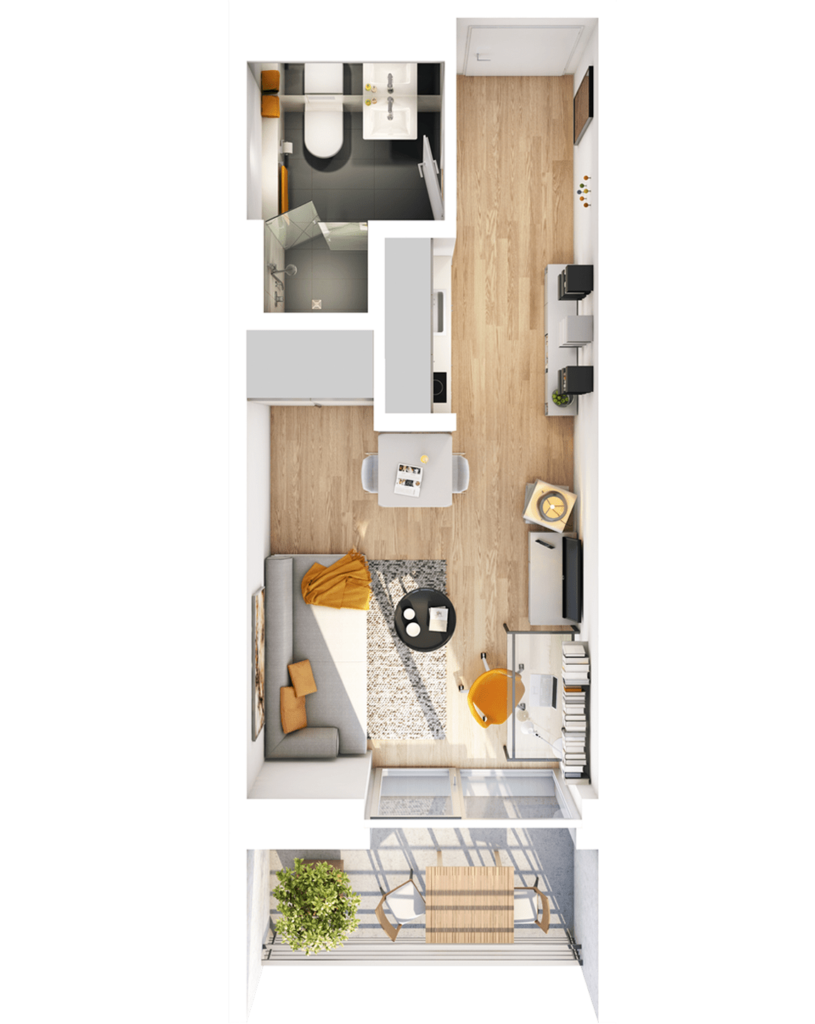 "Apartment-Studio ""A"" – 1 Zimmer"