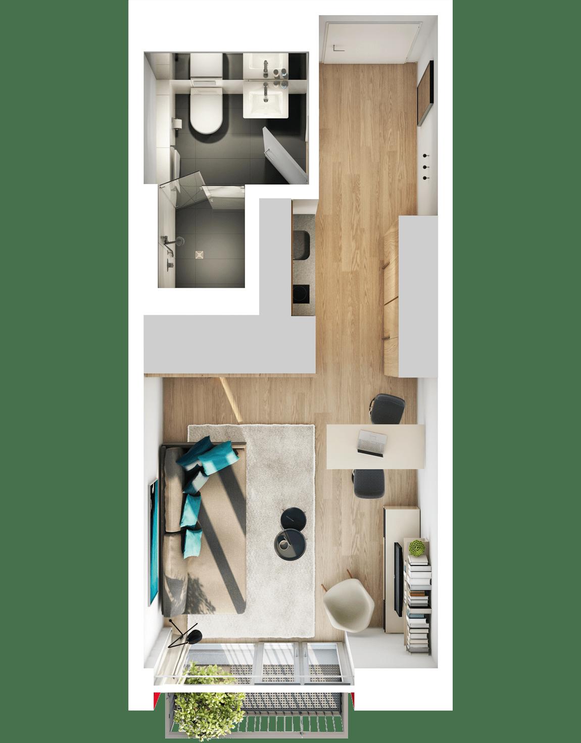 studiosus 5  Apartment Wohnung in Augsburg kaufen