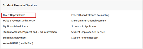 Direct Deposit | Student Financial Services - Student Financial Services