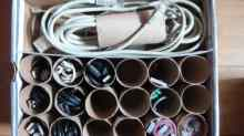 bog roll cable storage