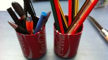 coke can pencil holder