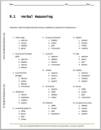Collection of Verbal Worksheets - Bluegreenish