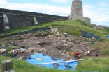 Excavations are still ongoing in the castle grounds