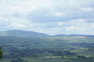 The hills of Flodden where the bloodiest battle between the Scottish and English was fought almost 500 years ago